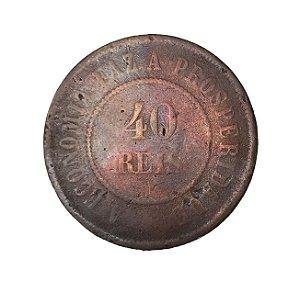 Moeda Antiga do Brasil 40 Réis 1908