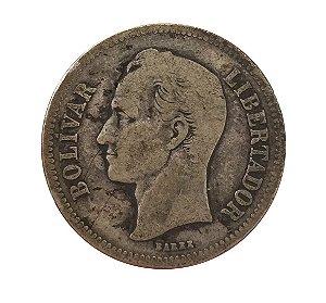 Moeda Antiga da Venezuela 2 Bolivares 1926 (Gram 10)