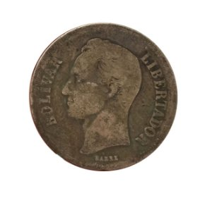 Moeda Antiga da Venezuela 2 Bolivares 1935 (Gram 10)