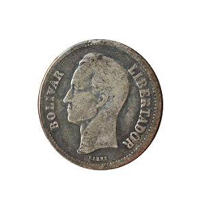 Moeda Antiga da Venezuela 2 Bolivares 1929 (Gram 10)