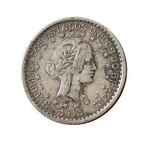 Moeda Antiga do Brasil 500 Réis 1913 - Estrelas Soltas