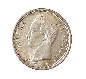Moeda Antiga da Venezuela 1 Bolivar 1960 (Gram 5)