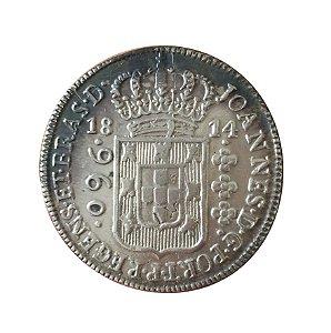 Moeda Antiga do Brasil 960 Réis 1814 B - Recunhada sobre 8 Reales México