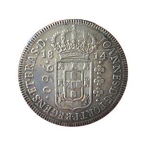 Moeda Antiga do Brasil Colônia 960 Réis 1814 B