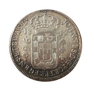 Moeda Antiga do Brasil 960 Réis 1812 B - Recunhada sobre México 1803
