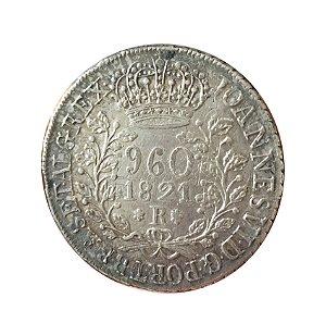Moeda Antiga do Brasil 960 Réis 1821 R