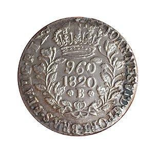 Moeda Antiga do Brasil Reino Unido 960 Réis 1820 B