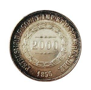 Moeda Antiga do Brasil 2000 Réis 1856