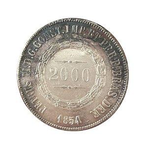 Moeda Antiga do Brasil 2000 Réis 1854