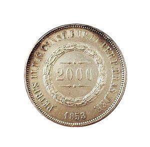 Moeda Antiga do Brasil 2000 Réis 1853