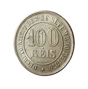 Moeda Antiga do Brasil 100 Réis 1871