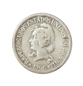 Moeda Antiga do Brasil 500 Réis 1906