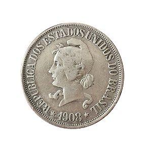 Moeda Antiga do Brasil 500 Réis 1908