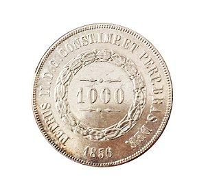 Moeda Antiga do Brasil 1000 Réis 1856