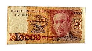 Cédula Antiga do Brasil 10 Cruzados Novos 1989