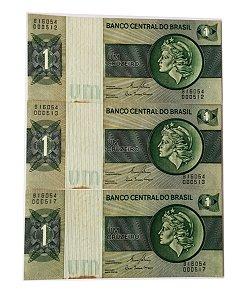 03 Cédulas Antigas do Brasil 1 Cruzeiro 1980