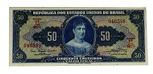 Cédula Antiga do Brasil 50 Cruzeiros 1961