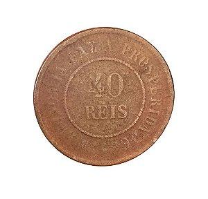 Moeda Antiga do Brasil 40 Réis 1901