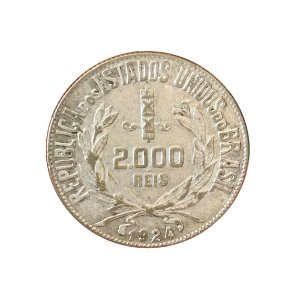 Moeda Antiga do Brasil 2000 Réis 1924
