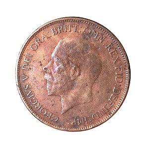 Moeda Antiga da Inglaterra 1 Penny 1929
