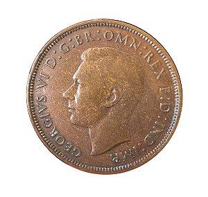 Moeda Antiga da Inglaterra 1 Penny 1946