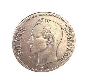 Moeda Antiga da Venezuela 5 Bolivares 1926 (Gram 25)