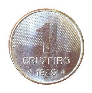 Moeda Antiga do Brasil 1 Cruzeiro 1980 - Cana-de-Açúcar