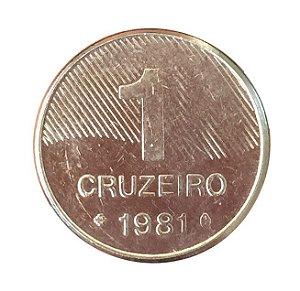 Moeda Antiga do Brasil 1 Cruzeiro 1981 - Cana-de-Açúcar