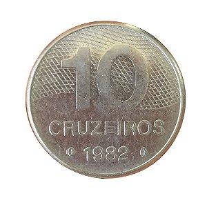 Moeda Antiga do Brasil 10 Cruzeiros 1982 - Integração Nacional