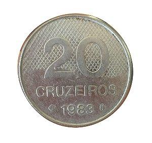 Moeda Antiga do Brasil 20 Cruzeiros 1983 - Igreja
