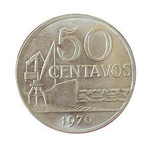 Moeda Antiga do Brasil 50 Centavos de Cruzeiro 1970