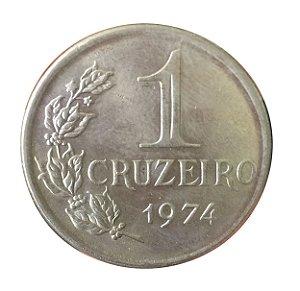 Moeda Antiga do Brasil 1 Cruzeiro 1974