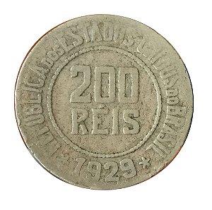Moeda Antiga do Brasil 200 Réis 1929