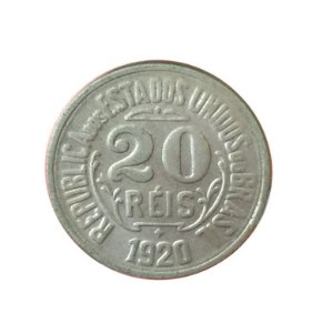 Moeda Antiga do Brasil 20 Réis 1920