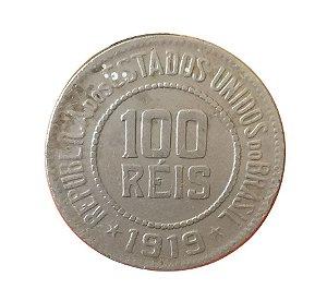 Moeda Antiga do Brasil 100 Réis 1919