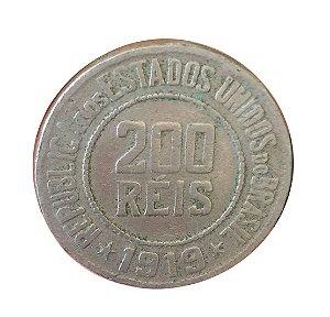 Moeda Antiga do Brasil 200 Réis 1919