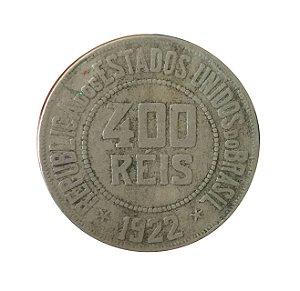 Moeda Antiga do Brasil 400 Réis 1922