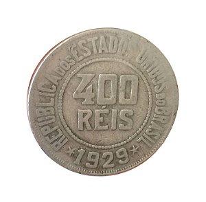 Moeda Antiga do Brasil 400 Réis 1929