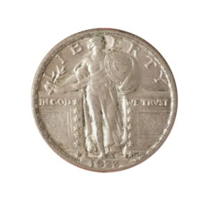 Moeda Antiga dos Estados Unidos Quarter Dollar 1923
