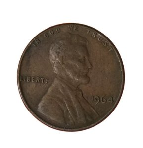 Moeda Antiga dos Estados Unidos One Cent 1964 - Lincoln