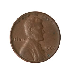 Moeda Antiga dos Estados Unidos One Cent 1966 - Lincoln