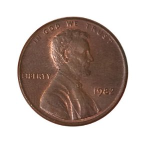 Moeda Antiga dos Estados Unidos One Cent 1982 - Lincoln