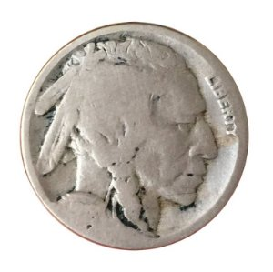 Moeda Antiga dos Estados Unidos Five Cents 1918 S - Buffalo Nickel