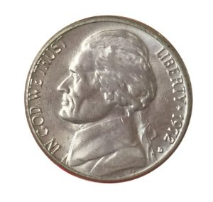 Moeda Antiga dos Estados Unidos Five Cents 1972 - Jefferson Nickel