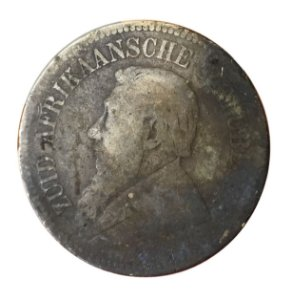 Moeda Antiga da África do Sul 2 1/2 Shillings 1896