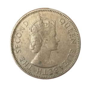 Moeda Antiga do East Africa 50 Cents 1955