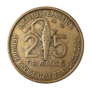 Moeda Antiga de French West Africa 25 Francs 1957