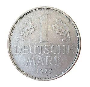 Moeda Antiga da Alemanha 1 Deutsche Mark 1973 J