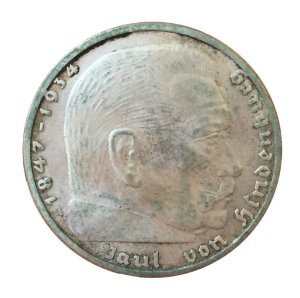 Moeda Antiga da Alemanha 2 Reichsmark 1937 A