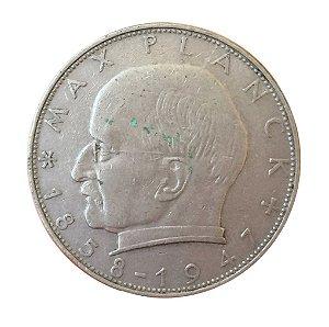 Moeda Antiga da Alemanha 2 Deutsche Mark 1957 D